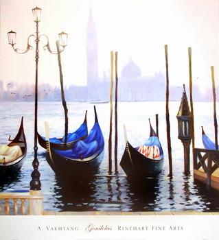 Gondolas Kunstdruck