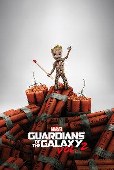 Póster Guardianes de la Galaxia Volumen 2 - Groot Dynamite