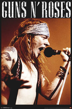 Poster Guns N' Roses - Axl Rose live on stage