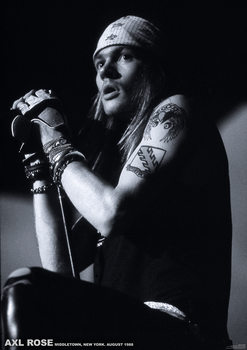 Плакат Guns N Roses (Axl Rose) - Middletown, New York, August 1988