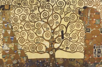 Poster Gustav Klimt - Livets träd