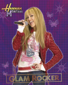 Poster HANNAH MONTANA - glam rocker