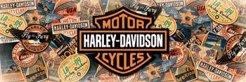 Poster Harley Davidson - cestování / travel /