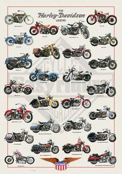 Poster Harley Davidson - legend