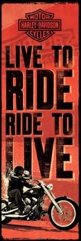 Poster Harley Davidson - live to ride