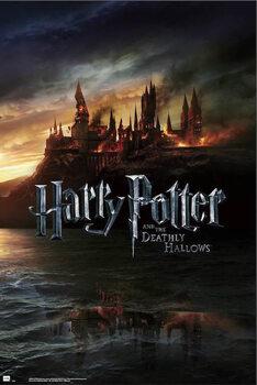 Póster Harry Potter - Burning Hogwarts