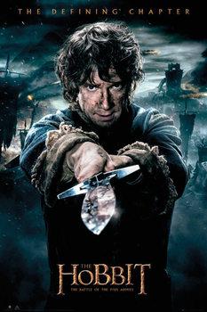 Poster Hobbit 3: Femhäraslaget - Bilbo