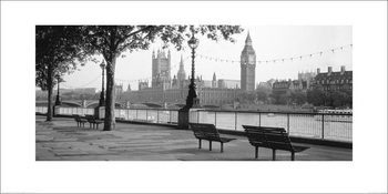 Houses of Parliament & The River Thames Kunstdruck