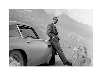 Konsttryck James Bond 007 - Aston Martin