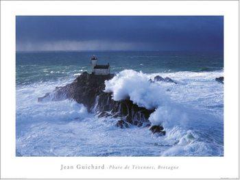 Konsttryck Jean Guichard - Phare De Tevennec, Bretagne