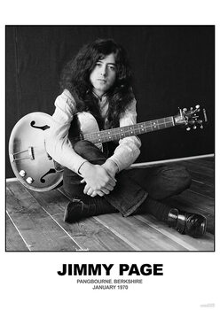 Póster Jimmy Page - January 1970 Berkshire