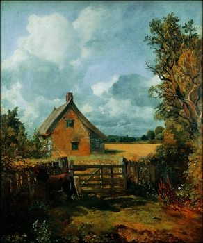 John Constable - Cottage a Cornfield Kunstdruck