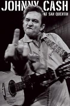 Poster Johnny Cash - san quentin portrait