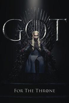 Póster Juego de Tronos - Daenerys For The Throne