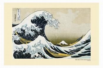 Poster Katsushika Hokusai- velká vlna u pobřeží kanagawy