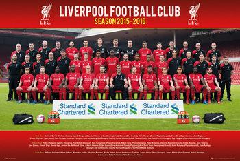 Liverpool FC - Team Photo 15/16 Poster