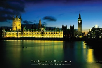 Poster London - houses of parliament