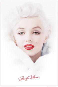 Poster Marilyn Monroe - White