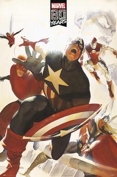 Poster Marvel - 80 Years Avengers