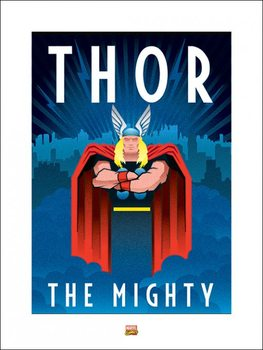Marvel Deco - Thor Kunstdruck