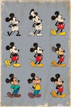 Poster  MICKEY MOUSE - MUSSE PIGG - evolution