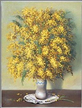 Mimosas Kunstdruck