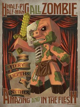 Poster Minecraft - Half Pig Half Man