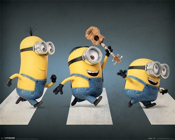 Minions (Despicable Me) - Abbey road Poster