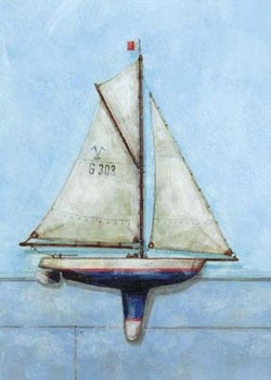 Model Boat Kunstdruck