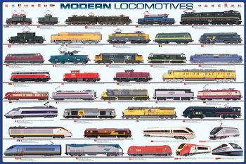 Poster Modern locomotives