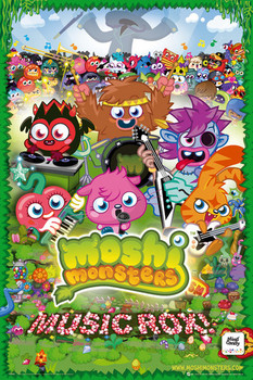 Poster Moshi monsters - music rox