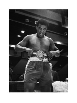 Muhammad Ali vs Belt  Kunstdruck