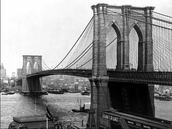 New York - Brooklyn bridge Kunstdruck