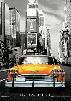 3D Poster New York - taxi no.1