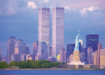 Poster New York - twin towers