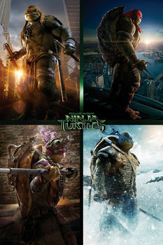 Poster Ninja Turtles - Quad