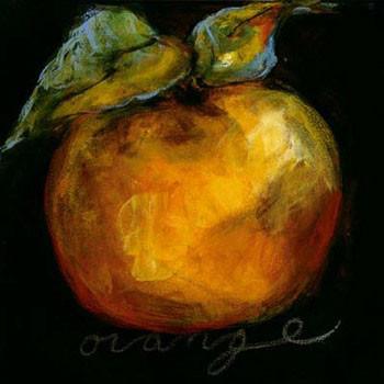 Orange Kunstdruck