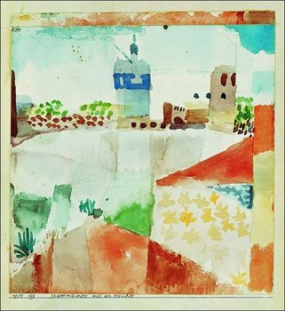 Konsttryck P.Klee - Hamammet Mit Der Moschee