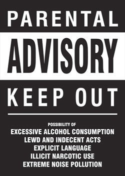 Poster Parental advisory - keep out
