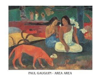 Konsttryck Paul Gauguin - Area Area