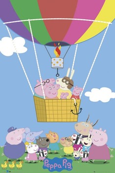 Poster PEPPA PIG - balloon