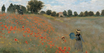 Poster Poppies, Poppy Field, 1873 (část)