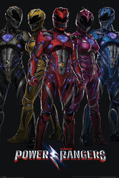 Poster Power Rangers - Groupe