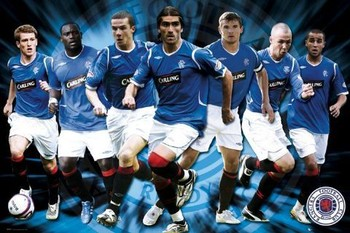 Poster Rangers - players 08/09