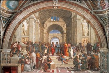 Konsttryck Raphael Sanzio - The School of Athens, 1509