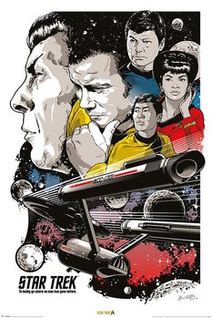 Poster Raumschiff Enterprise - Boldly Go  50th Anniversary