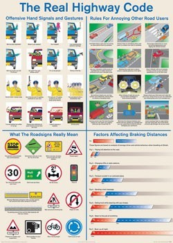 Poster Real highway code
