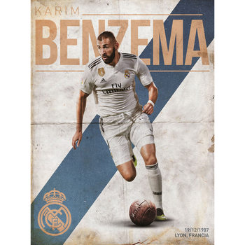 Real Madrid - Benzema Kunstdruck