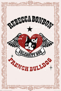 Poster REBECCA BONBON - french bulldog