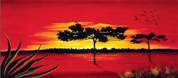 Red Africa Kunstdruck